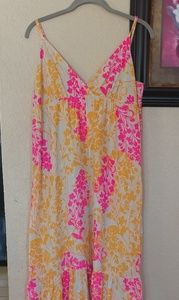 Old navy floral maxi dress large size..